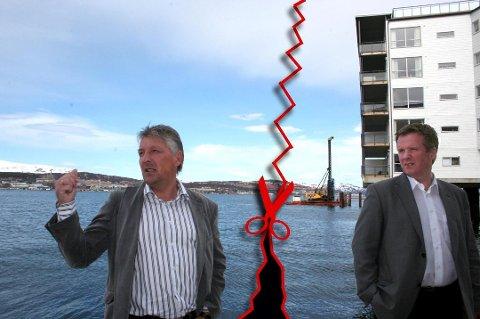 BRUDD: Terje A. Johansen sammen med Ted Larsen på Tomasjordnesset i Tromsø. Illustrasjon: Rune Endresen/Rune Alexandersen