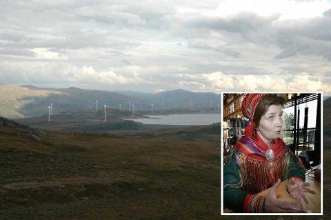 Sametingspresident Aili Keskitalo mener en aksept for kraftlinje bør gjøre at det ikke gis konsesjon til vindkraft på Rieppi. Her en illustrasjon fra prosjektet.