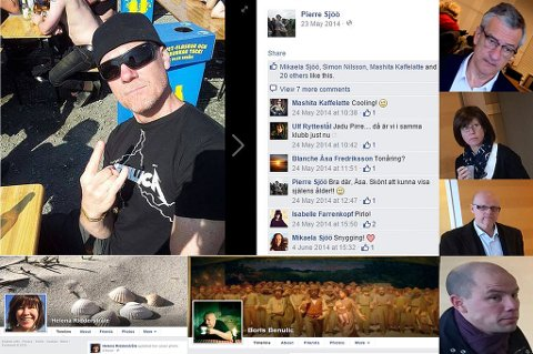 Foto: Skjerbilder fra Facebook-profiler/Bilder fra retten: Rune Endresen og Linda Vaeng Sæbbe