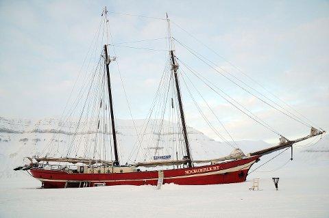 "Skonnerten ""Noortherlicht"" har fungert som hotell på Svalbard."