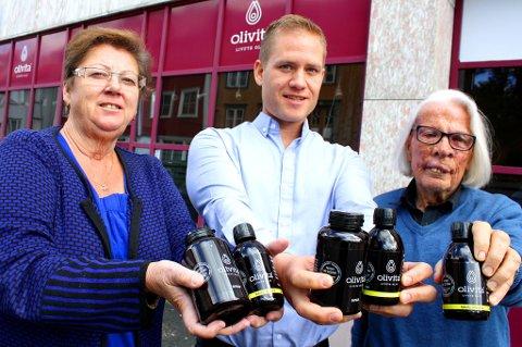 May Britt Manin, Børge Robertsen og Bjarne Østerud i Olivita i Tromsø. Foto: Rune Endresen