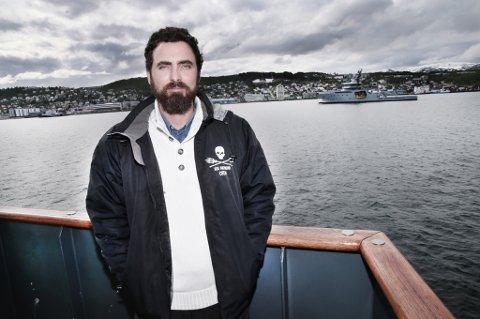 """Kaptein Lochart Maclean på Sea Shepherd-skipet """"Sam Simon"""""""
