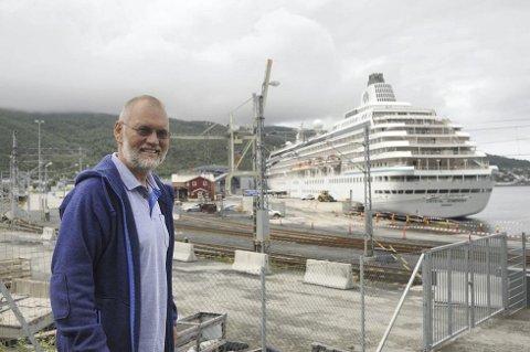 Industrihavn: Det er for dårlig å ta imot cruisepassasjerene på en jernbaneterminal, mener Geir-Ketil Hansen. En cruiseterminal er en framtidsinvestering.Foto: Roger Danielsen