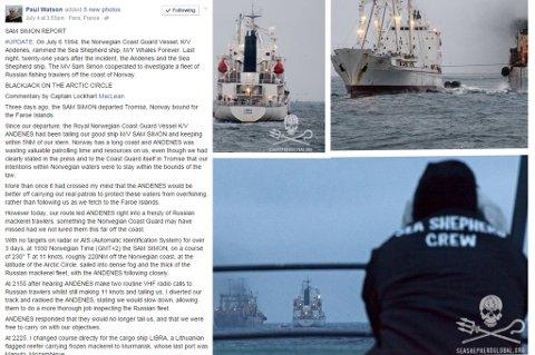 Her er Sea Shepherds egne bilder fra inspeksjonen i Smutthavet.