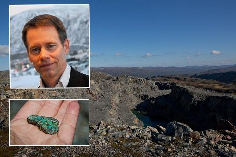 Her ligger Norges største forekomst av kobber. Foto: Magnus Holte/Nussir