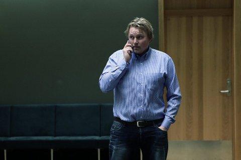 Stig Henriksen, her fotografert i forbindelse med en rettsak mot Handelsbanken. Henriksen ønsker ikke å bli fotografert eller gi kommentarer til pressen i forbindelse med saken som går nå. (Foto: Torgrim Rath Olsen)
