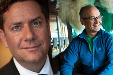 Daniel Skjeldam (konsernsjef i Hurtigruten) og reiselivsgründer Kåre Tannvik.