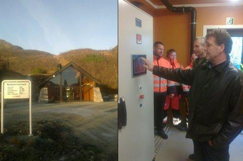 OFFISIELT ÅPNET. Her åpner Mjeldeelva kraftverk på Kvaløya.