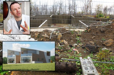 I GANG: I 2016 så det slik ut på tomta der Erling Bjordal skal bygge drømmehuset. Snaue tre år seinere er byggingen endelig i gang.