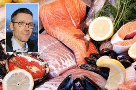 EKSPORTVERDIEN ØKER: Geir H. Hanssen, kommunikasjonsdirektør i Norges sjømatråd.