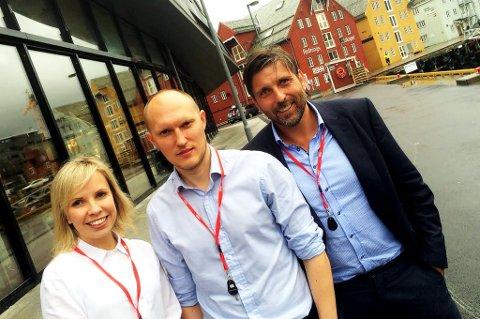 SKATTERÅDGIVERE: Rådgiver- og revisjonsfirmaet BDO i Tromsø ved Stine Lettrem-Eliassen, Espen Lyngmo og Frode Danielsen har analysert de skatte- og avgiftsmessige konsekvensene av statsbudsjettet for næringslivet.