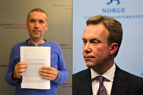 Utenriksminister Børge Brende gir nye BarentsObserver 1,6 millioner i støtte
