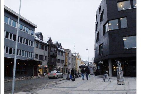 NY NABO: Den nye bygården i Havnegata rett sør for Verdensteatret sett mot nord.