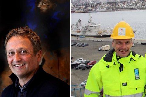 Roar Dons (styreleder og eier i AS Pellerin) og Kenneth Bless (daglig leder Pellerin)