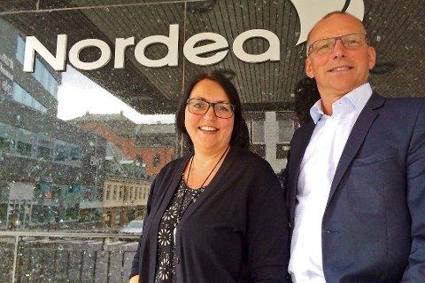 Nordea-banksjefene Mona Yttergård (PM) og Paul Berg (BM).