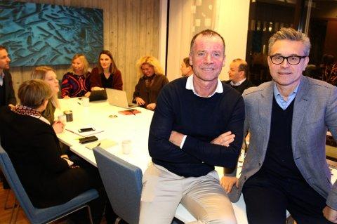 NYE PARHESTER: Roger Ingebrigtsen og Odd Emil Ingebrigtsen under et møte i Agenda Nord-Norge.