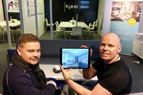 NY APP: Espen Richardsen (Hjem) og Morgan Isaksen ( ) lanserer ny app.