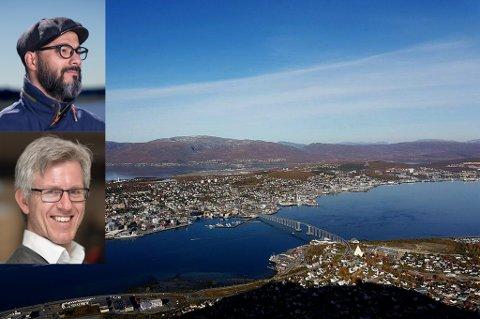 PÅ FLYTTEFOT: I høst flytter Shah Adil Reyaz (øverst) til Tromsø med sin finske kone og sønn. Det gleder byråleder Ola Bratlie i HK Tromsø Reklamebyrå.