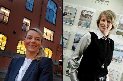 Wenche Odden Kvamme (Eiendomsmegler1 Nord-Norge) og Ruth Norstrøm (DnB Eiendom Nord-Norge).