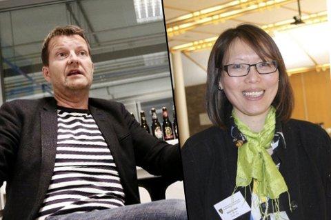 SJOKKERT OVER AVGIFT: Harald Bredrup (Mack) og Målfrid Baik (NHO).
