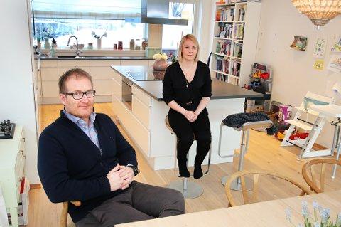 RYSTELSER. Huset rister når det blåser hos Agnetha Johansen Åsheim og Torolf Andreassen.
