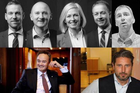 DISSE FÅR: Petter Høiseth, Lasse Hagerupsen, Trude Glad, Christian Overvaag, Trond Hanssen, Jan-Frode Janson og Ronni Møller Pettersen.