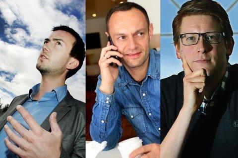 Kent Gudmundsen (H), Torgeir Knag Fylkesnes (SV) og Martin Henriksen (Ap)