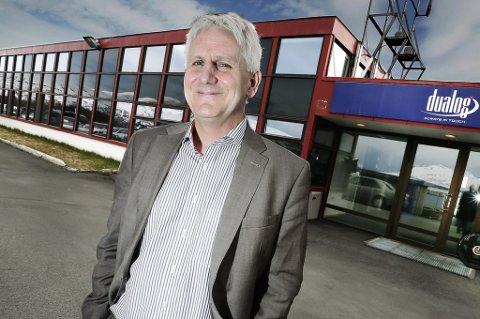 NY KONTRAKT: Morten Lind-Olsen i Dualog er svært fornøyd med å få på plass en ny kontrakt. FOTO: Torgrim Rath Olsen