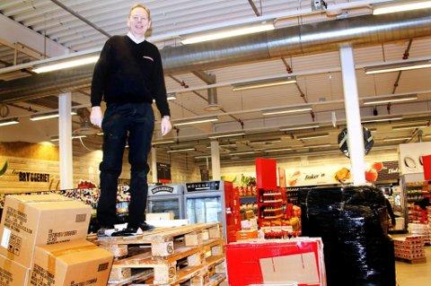 KJØPMANN. Bjørn Bendiksenav bildet på Eurospar Tomasjord ved en tidligere anledning.