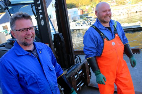 EIERBRØDRE: Hans Ivar Pedersen og broren Bengt Gøran Pedersen ble begge eiere i Oldervik Fiskeindustri etter familieråd.