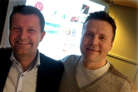 Mack-sjef Harald Bredrup og markedsdirektør Roger Karlsen på Flow.