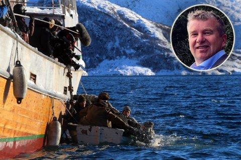 LA TIL RETTE: Den 12. mann ble blant annet spilt inn i Lyngen. Dan Håvard Johnsen, ordfører i Lyngen, la til rette.