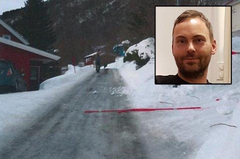 VEIKRANGEL I LYNGEN: Trond Espen Wollan (innfelt) fra Tromsø fikk bygget en ny avkjørsel til eiendommen i Lyngen. Da startet problemene.