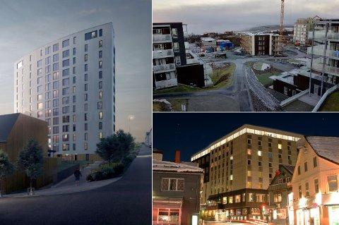 SIKRET SEG TROMSØOPPDRAG: Solseilet, Workinntoppen, Scandic i Tromsø sentrum. Stavanger-selskapet har hatt flere oppdrag i Tromsø. Nå er selskapet begjært konkurs.