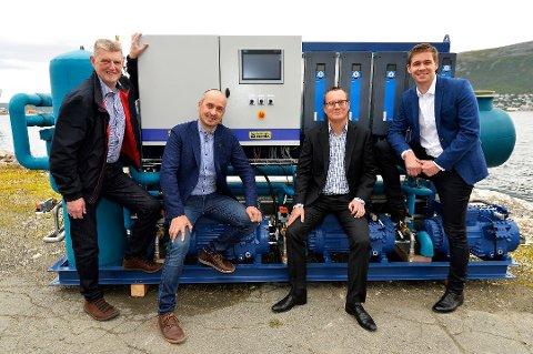 INN FRA KULDEN: Tor Vangberg, Frode Berg, Anders Høifødt og Martin Schjølberg. Foto: Terje Mortensen