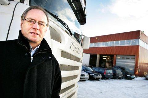 OMSTILLING: Steinar Øverås, daglig leder i Transport Nord, regner må å miste titalls millioner i omsetning. Men selskapet er solid og klar for omstilling.