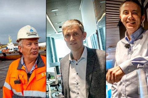 FINALISTER: Greger Mannsverk (Kimek), Trond Eirik Kildal Paulsen (Poweroffice) og Kjartan Karlsen (NSK Ship Design).