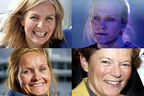 RIKE, MEN FÅ: Det er bare 14 kvinner på topp 100-lista over mest formuende i Troms. Det samme gjelder inntektslista. Fra venstre: Hege Lian, Anneli Drecker, Aasta Lassessen og Benedicte Sigrid Berg Schilbred er fire av kvinnene på lista.