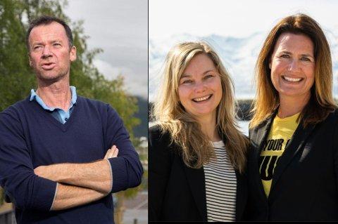 SKILLER LAG: Roger Ingebrigtsen, Mari Nilsen og Eva Halvorsen i 620 Kommunikasjon.