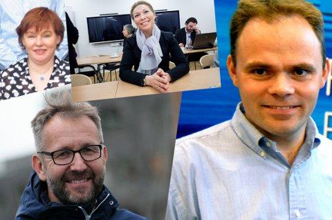 NYE JOBBER: Eirin Kjølstad, Ellen Beate Lundberg Stein Gunnar Bondevik, Erling Dalberg har fått nye jobber i Troms Kraft.