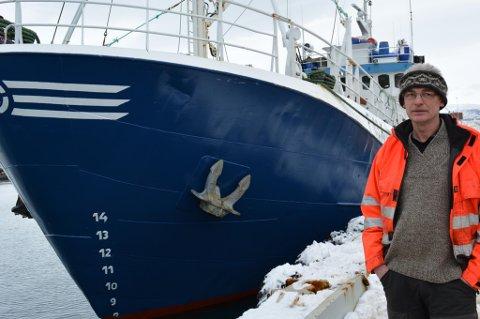 SKIPPER: Bjørne Kvernmo. Foto: Erlend Hykkerud, Finnmark Dagblad