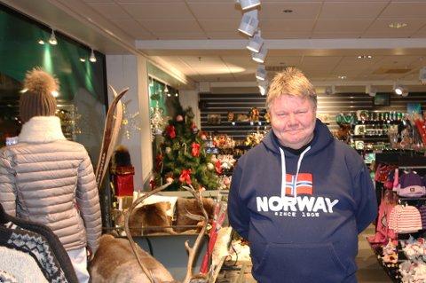 ALDRI MER RESTAURANT: Bent Hansen, eier og driver av Tourist Shop - Tromsø.