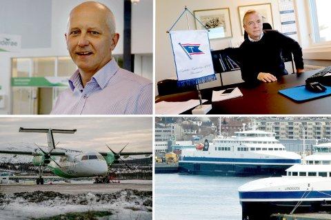 VIL SELGE: Brynjar Forbergskog (styreleder og eier) og Torkild Torkildsen (adm.dir i Torghatten Nord) sitter i møter med ansatte etter aksept av bud på den nordnorske transportgiganten.