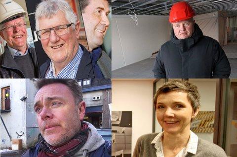 BYGGEBRANSJEN: Consto-toppene Aage Fossum, Hans Kristian Seterlund,  og Truls Mølman, Rune Madsen, Bård Sverdrup, Gro Skaar Knutsen.