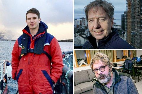 FINALISTENE: Lovundlaks ved Jacob Palmer, Per Gårseth i Haneseth Gruppen og Lars Utstøl i Kunnskapstrening AS.