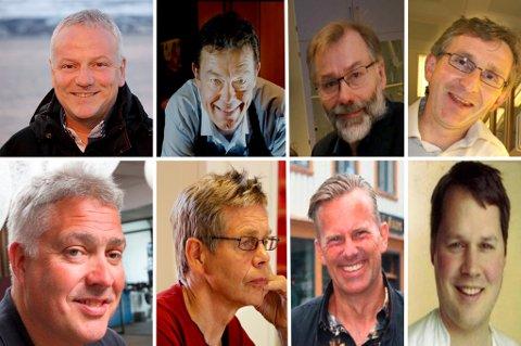 AKSJER I BØRSRAKETT: Lars Valdermo, Terje Martinussen, Rolf Engstad, Gunnar Rørstad, Tord Kolstad, Per Aronsen, Geir Fladseth og Edvard Hjort Iversen.