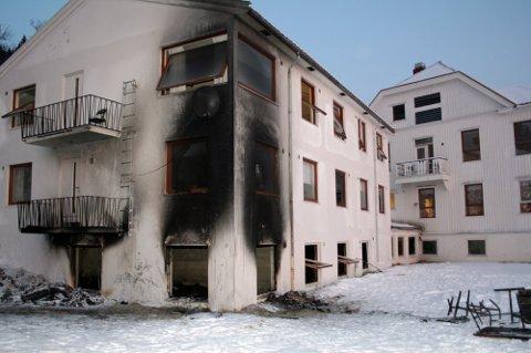 BRANNSKADET: Senjagården ble i 2017 rammet av brann.