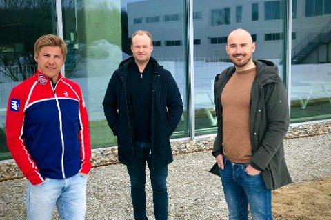 NYTT SAMARBEID: Erik Valnes (f.v), Hans Christian Ribe og Andreas Nygaard har gått sammen om et nytt foredragskonsept i Tromsø. Det har slått godt an, før første arrangement.