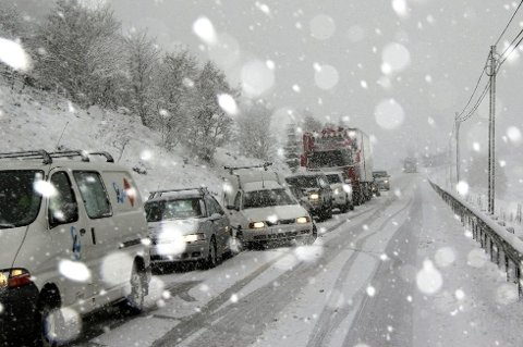 SNØEN KOMMER: Mandag kan det komme så mye som 25 centimeter sør i Oppland