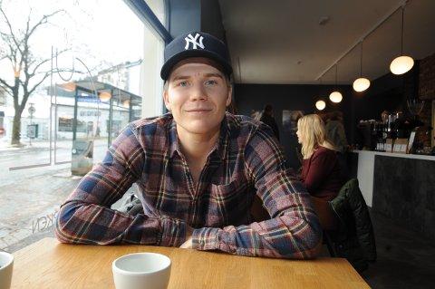 GOD FØLELSE: Oliver Berg har noen rolige dager hjemme på Gjøvik etter sin gjennombruddsesong i eliteserien.